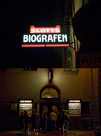 """Kulturnatten"" on Sept. 12 (a one whole day of culture events in the city): Slottsbiografen is an old movie theater from the year 1914."